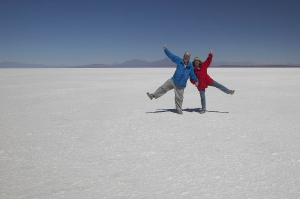 Fun on Salar de Uyuni