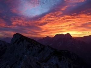 Sonnenaufgang auf der Admonter Warte